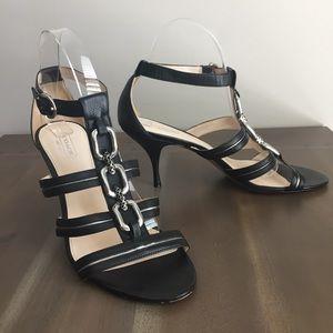 COACH Blake heeled Leather open toe sandals. 9M